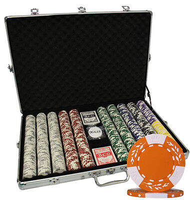 1000 12g LAS VEGAS CASINO POKER CHIP SETS PURE CLAY CHIPS WITH CARDS