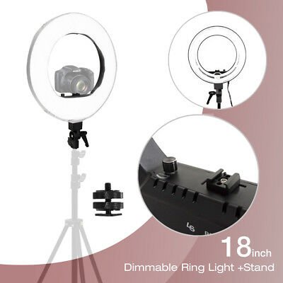 "5500K 18"" Fluorescent Dimmable Ring Light w/Bag Portrait Video Light Photography"