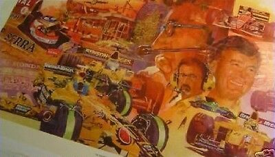 Print: Eddie Jordan Picture F1 Formula One 1 NEW! 10 Years of Jordan Signed