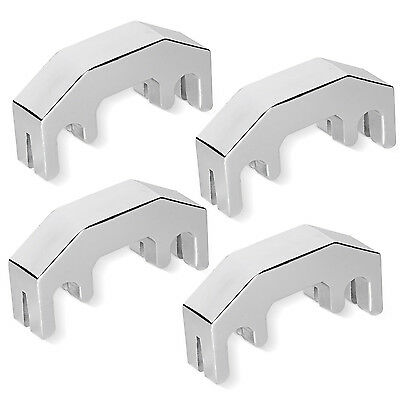 Neewer Professional Easy-to-Use Practice Mute for 4/4 Violin-Silver(4 Pack)