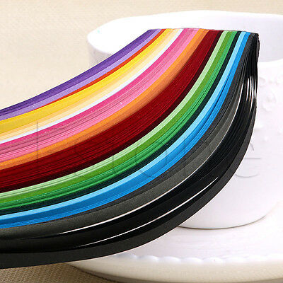 240 Stripes Quilling Paper 5mm Width Mixed Color For DIY Craft 24 Colors