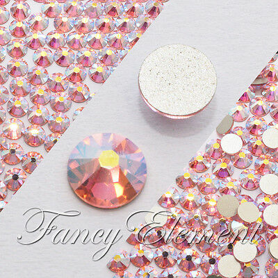 AB Light Rose (No Hotfix) Pink Swarovski Flatback Rhinestones Nail Art CRYSTAL