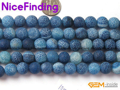 Wholesale Lot Agate Round Beads For Jewelry Making For Necklace Bracelet 15''DIY