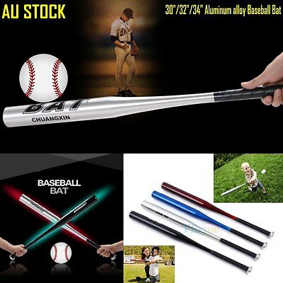 "Silver/Red/Blue/Black Aluminum Alloy Baseball Bat Racket 30""/32""/34"" Out Sports"