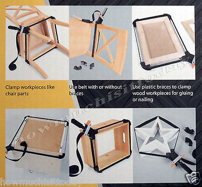4m Belt Clamp Vice Band Corner Jig for Woodwork Picture Frame - NEW