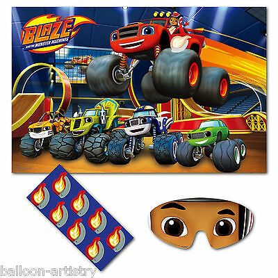 8 Player Blaze & The Monster Machines Children's Birthday Poster Party Game