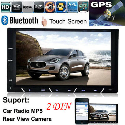 """7"""" HD 2 DIN In-Dash Bluetooth Car Stereo Android USB FM Radio MP3 MP4 MP5 Player"""