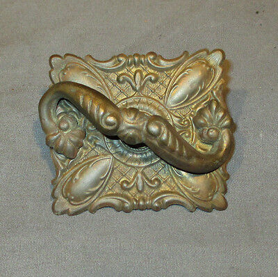 B Antique Ornate Brass Wheeler Wilson Treadle Sewing Machine Drawer Pull Handle
