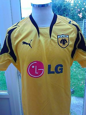 AEK Athens 2007 home shirt   size L adult