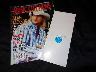 Alan Jackson *Private Party Invite Celebrating 50 Million Records Sold+Mag Cover