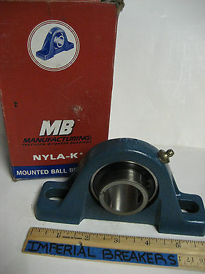 * New Mb Manufacturing Precision Mounted Bearing Nyla-K  C 25 1 3/16  Ye-602A