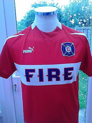 "Chicago Fire 2003 home shirt  size 30""/32"" youth Large"
