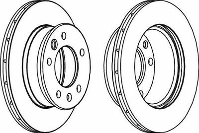 To Clear - New Oe Quality Ferodo - Front - Brake Discs (X2) - Fcr228A