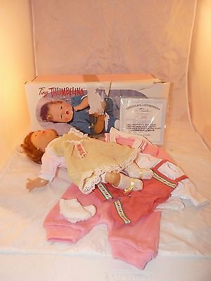 Tiny Thumbelina Doll 2001 Box 5 Outfits 2 Socks # Certificate WORKS!!