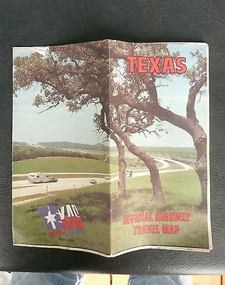 1986  Texas official highway state road  map Sesquicentennial