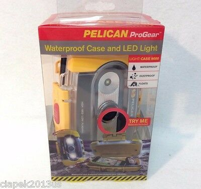 Pelican ProGear Waterproof Floats Case great for Phone Documents Boat LED Yellow