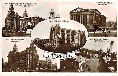 RPPC,Liverpool,U.K.5 Views,Merseyside,c.1909