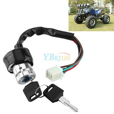 Durable 3 Position 6 Wire Ignition Switch With 2 Keys For Car Motorcycle