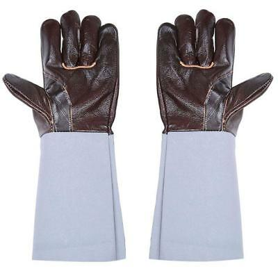 1Pair HOT Long Leather Welding Gloves Wear Protective Gloves For Industrial - LD