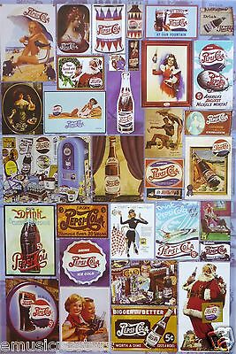 PEPSI COLA POSTER OF OLD CLASSIC ADVERTISEMENTS THROUGH THE YEARS v.1 - Soda Pop