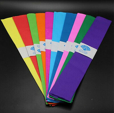 10pcs Mixed Color Crepe Paper Streamer Birthday Wedding Party Decoration Garland