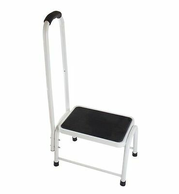 Active Living Step Stool with Fixed Hand rail and soft grip 21 stone 135kg