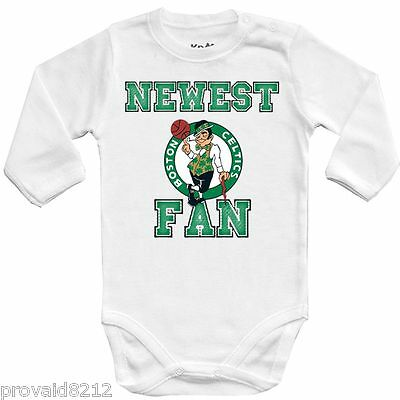 Baby bodysuit Newest fan Boston Celtics, NBA bascet kids One Piece jersey