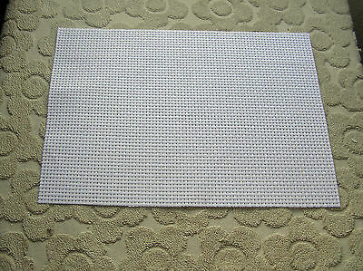 "A piece of White Binca 6 count Fabric 25cm by 35cm (10"" x 14"")"