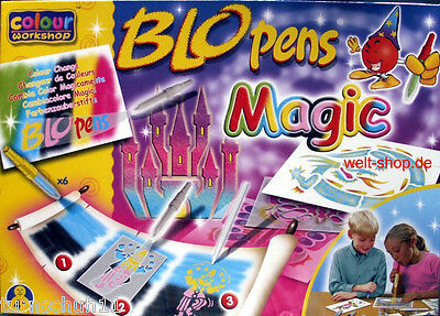 Pustestift Blopens Magic Pens 11 Stifte 6 Schablonen Zauberstift Zauberstifte