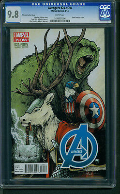 Avengers #24 NOW (2014) CGC Graded 9.8 ~ David Peterson Animal Variant Cover