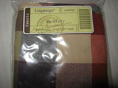 Longaberger Small Berry Basket Liner in Everyday Plaid.  MINT in bag never used!