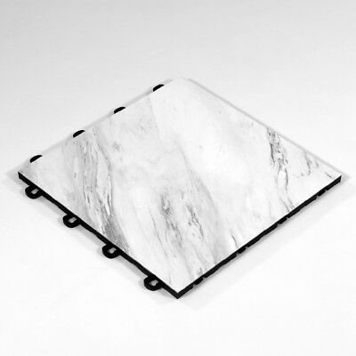 Convention Floor Tile White Marble Style - 10'x10'