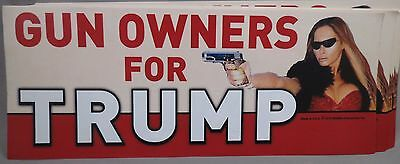 WHOLESALE LOT OF 10 GUN OWNERS FOR  TRUMP STICKERS women Melania 2nd Amendment