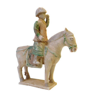 Chinese Pottery Clay Ancient Style Riding Horse Figure cs1434