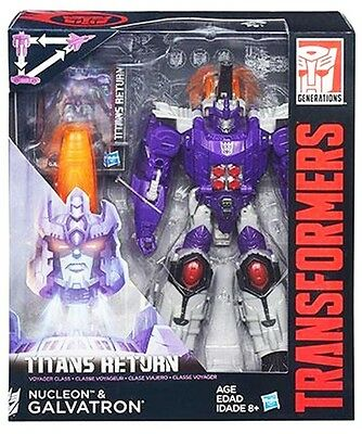 Transformers Generations Titan Returns Voyager Galvatron & Nucleon in Stock