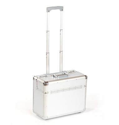 Aluminium travel business flight pilot hand luggage case trolley suitcase bag si