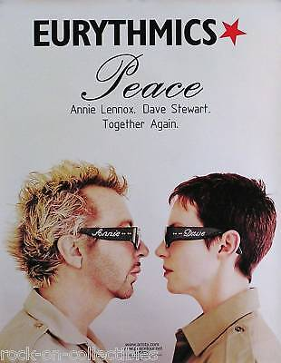 Eurythmics 1999 Peace Tour Promo Poster