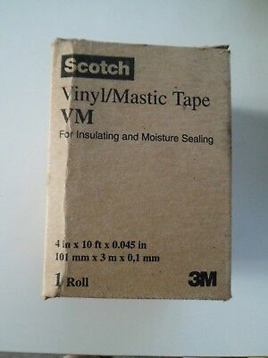 3M Scotch Vinyl/Mastic Tape VM 101mm x 3m x 0,1mm *Neu*