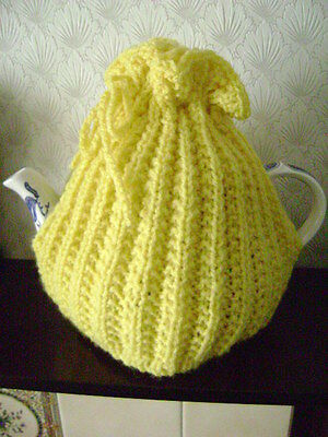 New Hand Knitted Lemon Tea Cosy~Large