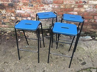 4 Vintage Old School Science Laboratory Stacking Stools Industrial Chic