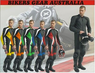 New Men One Piece Or Two Piece Motorcycle/Motorbike Trackday Leather Racing Suit