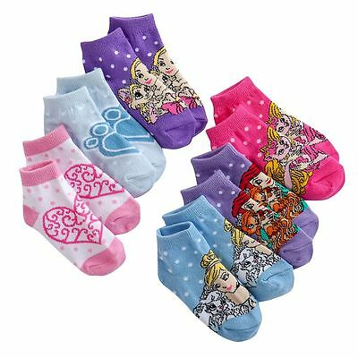 Disney Palace Pets Toddler Girls Socks 6 PACK Various Colors NWT Fits 2T - 4T
