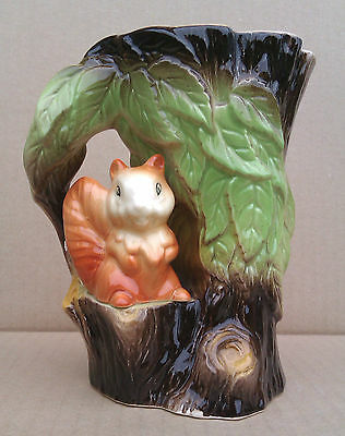 "6"" Eastgate Squirrel Vase - Withernsea Pottery"