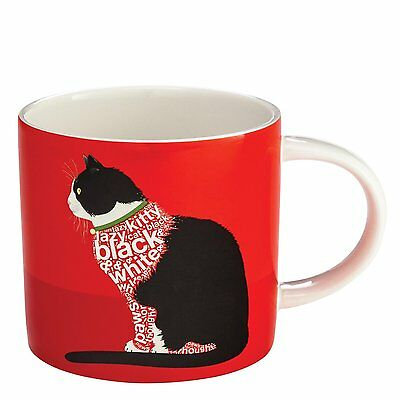 Black and White Cat Sitting Mug - Wild About Words