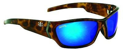New Polarized Calcutta Islander Sunglasses Tortoise/Blue Mirror 62mm IL1BMTORT