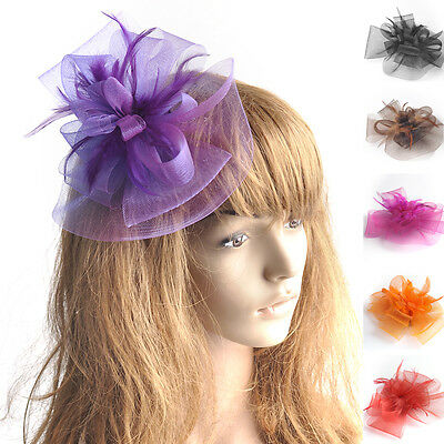 Hot Sale Handmade Women Hair Clip Party Wedding Casual Fascinator Hat Headpieces