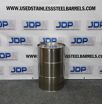 15 Gallon Stainless Steel Barrel Drum New Closed Top