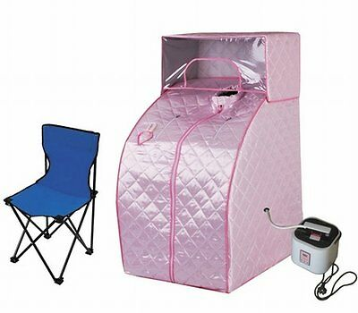 NEW Stout Design Pink Portable Steam and Beauty Sauna Tent with Cover Head