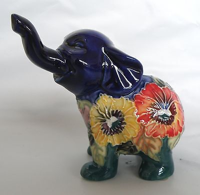 Old Tupton Bright Bouquet Elephant 2 Ceramic Figurine * New in Box *