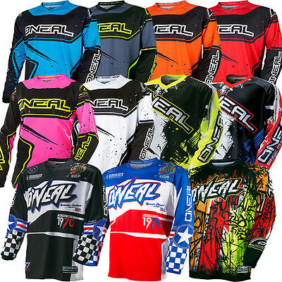 Oneal Element Adult MX Motorbike Jersey Shirt Top 2017 Size S-4XL